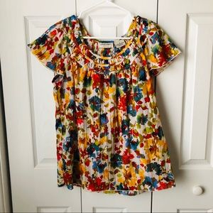94ce8a06918c0 Lemon Grass Flutter Sleeve Top Size Medium